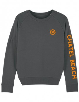 "Sweat Femme Col Rond ""Signature"" Orange"