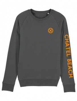 "Sweat Homme Col Rond ""Signature"" Orange"