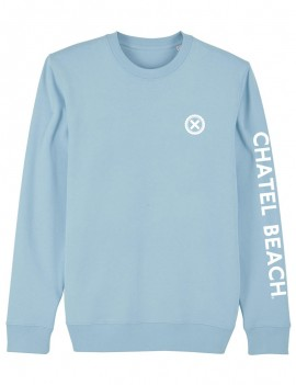 "Sweat Unisexe Col Rond ""Signature"" Blanc"