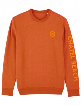 "Sweat Unisexe Col Rond ""Signature"" Orange"