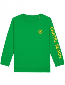 "Sweat Enfant Col Rond ""Signature"" Jaune"