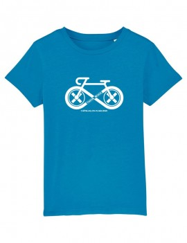 "T-Shirt Enfant ""Cycling"" Blanc"